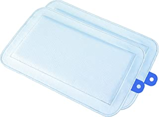 DryFur Pet Carrier Insert Pads Size Small 19.5in x 12.5in Blue - 2 Pack