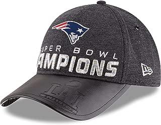 New England Patriots New Era Super Bowl LI Champions Trophy Collection Locker Room 9FORTY Adjustable Hat Heathered Black
