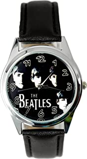 The Beatles Genuine Leather Quartz Wrist Watch