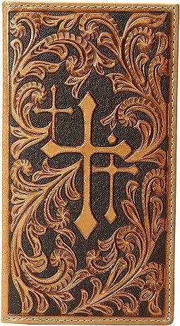 M&F Western - Scroll Embossed 3 Crosses Rodeo Wallet