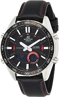 Casio Unisex-Adult Quartz Watch, Chronograph Display and Leather Strap EFV-C100L-1AVEF