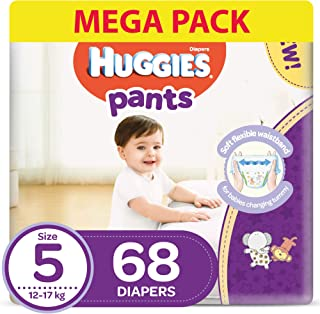Huggies Active Baby Pants - Size 5,  12-17 kg, 68 Diapers Pants