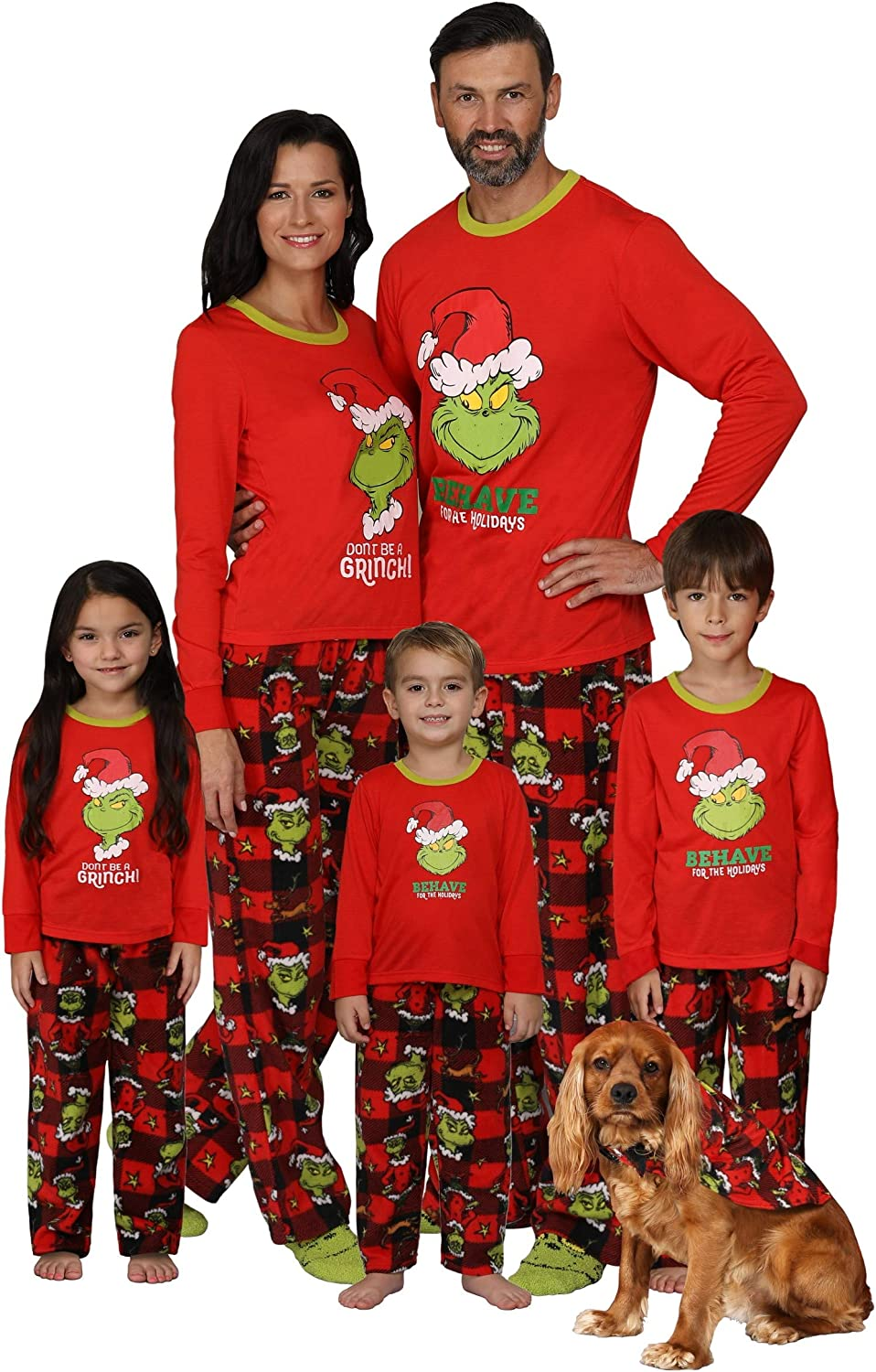 Dr. Seuss The Grinch Matching Family At the price 4 - Size Pajama Alternative dealer Sets Boys