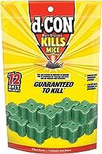 d-CON Refillable Corner Fit Mouse Poison Bait Station, 1 Trap + 12 Bait Refills