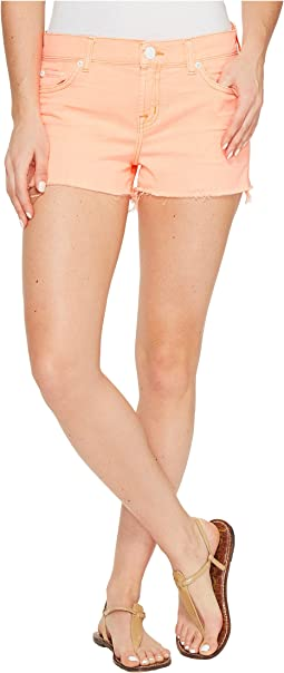 Hudson - Kenzie Cut Off Five-Pocket Shorts in Luminous Orange