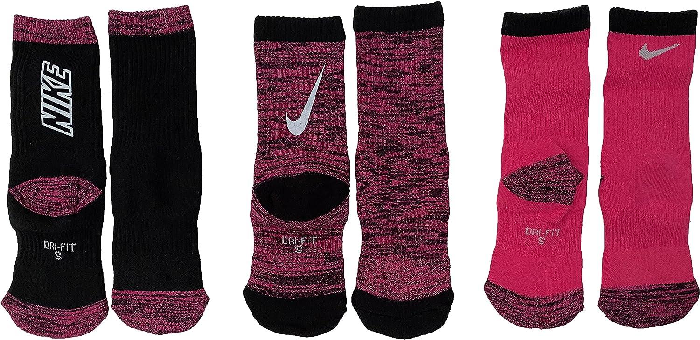 Nike Milwaukee Mall Little Free Shipping New Girls Performance Cushioned Dri Socks Fit 3 Pac Crew