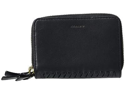 AllSaints Courtney Card Holder (Black) Handbags
