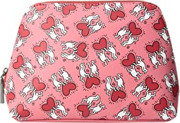 Keith Haring X Alice + Olivia Nikki Printed Cosmetic Case