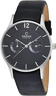 Obaku Dress Watch For Men Analog Leather - V175GMCBRB