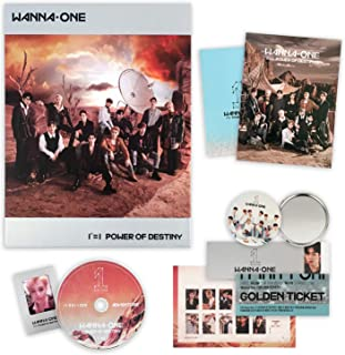 WANNA ONE 1st Album - POWER OF DESTINY [ Adventure Ver. ] CD + Photobook + Stamp Sticker + Photocard + Lyrics + Golden Ticket + FREE GIFT / K-Pop Sealed.