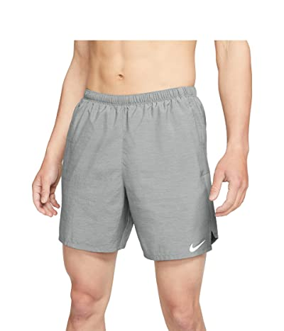 Nike Dri-FITtm Challenger Shorts 7 Brief (Smoke Grey/Heather/Reflective Silver) Men