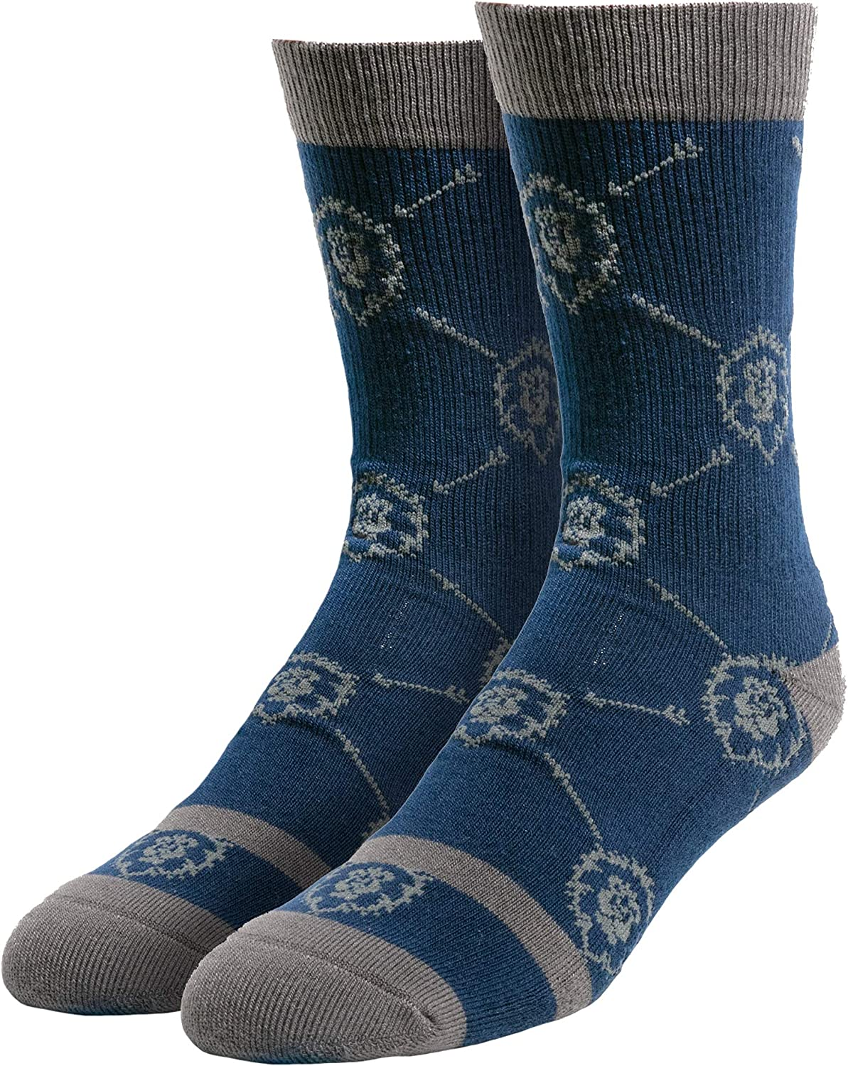 JINX World of Warcraft Alliance Glory and Honor Embroidered Athletic Crew Socks, 1 Pair