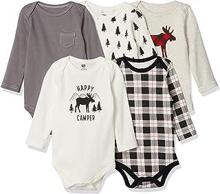 Unisex Baby Cotton Long-Sleeve Bodysuits