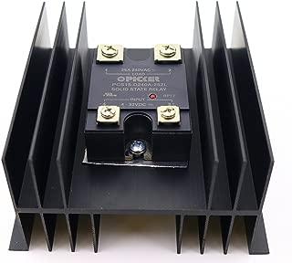 PCS15-D-240A-25ZL-H110 |25 Amp, 48-280 VAC Zero Crossing |4-32 VDC Input |Hockey Puck Solid State Relay W/Heat Sink & Thermal Transfer Pad | Base SSR Cross: Carlo Gavazzi RM1A23D25, Crouzet 84134910