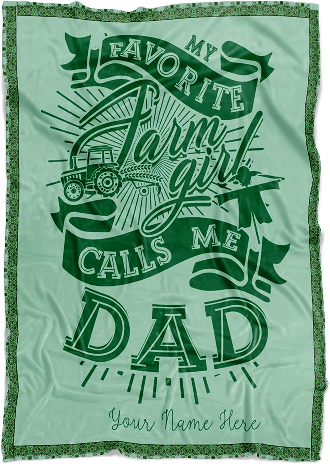 NEWKSTORE Personalized Name Quality inspection Fashionable Papa Blanket You Dad Blank Missing