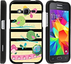 MINITURTLE Case Compatible w/ Samsung Core Prime Case, Armor Snap On Hard Case Protector Cover w/ Customized Design for Samsung Galaxy Core Prime G360 (Boost Mobile) Colorful Birds