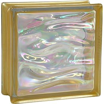 6 piezas BM bloques de vidrio AGUA perla rosa 19x19x8 cm: Amazon.es: Bricolaje y herramientas