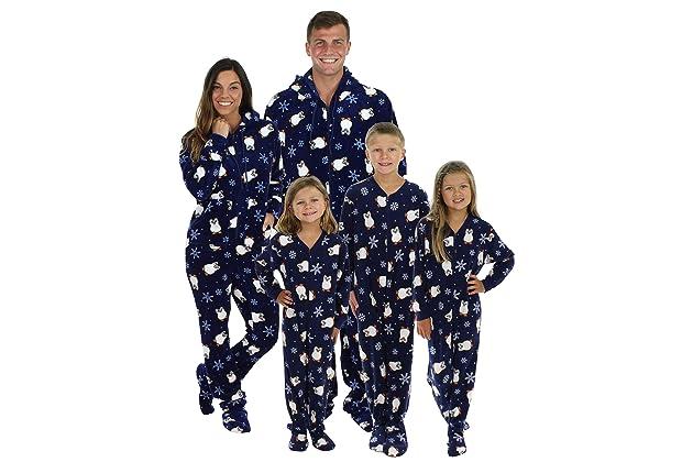 fb195217cb12 SleepytimePjs Family Matching Penguin Onesie PJs Footed Pajamas