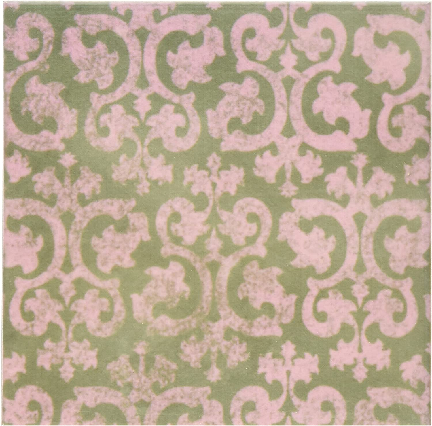 3drose Cst 151437 4 Grunge Pink And Grey Damask Dark Gray Faded Victorian Wallpaper Swirls Vintage Classic Ceramic Tile Coasters Set Of 8 Amazon Ca Home Kitchen