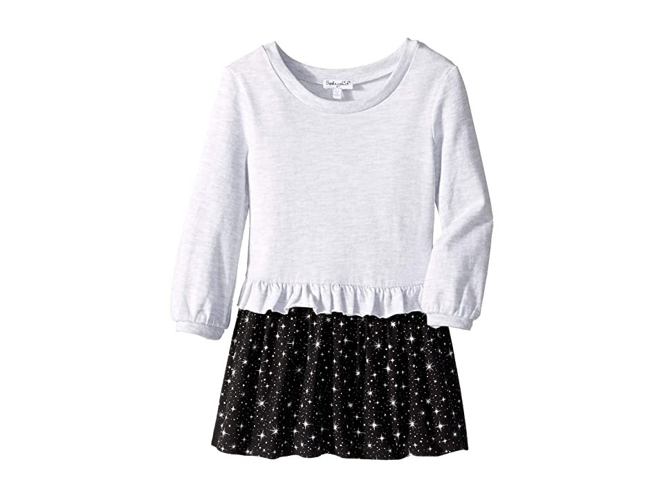 Splendid Littles Star Print Dress (Little Kids) (Ice Grey Heather) Girl