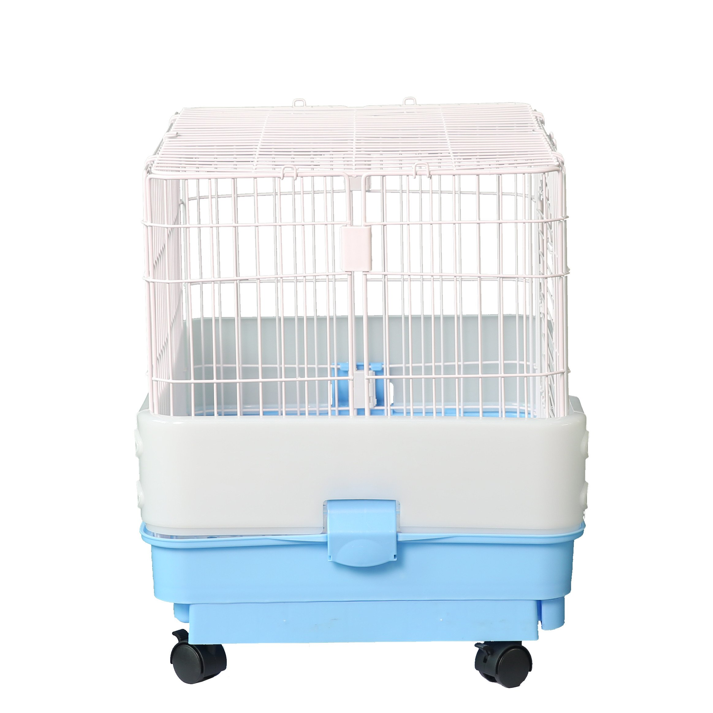Homey Pet-3 or 1 Tiers Chinchilla Ferret Rabbit Small Animals Crate with Pull Out Tray Urine Guard and Casters in Pink//Blue//Brown