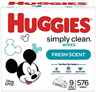 HUGGIES Simply Clean Fresh Scented Baby Wipes Soft Pack, 576 Count