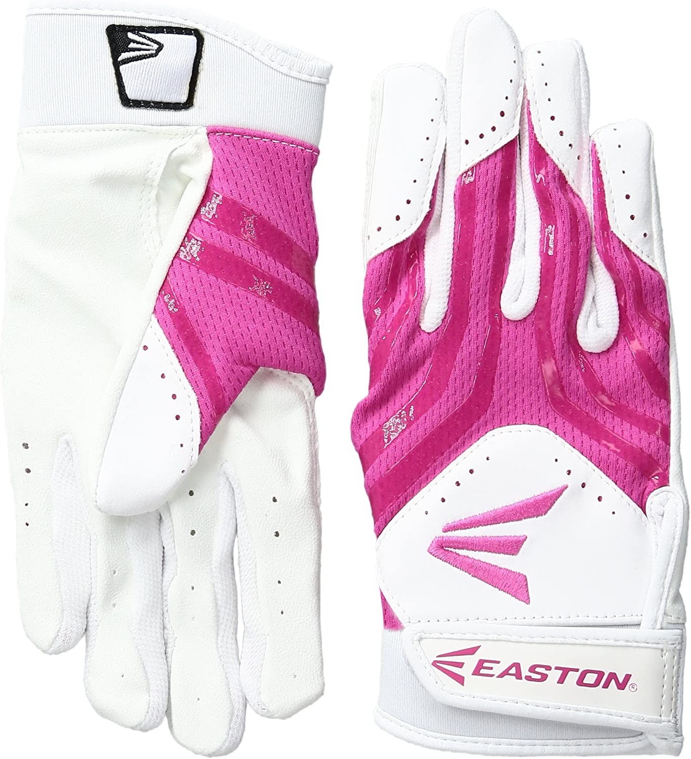 Youth EASTON HF3 Hyperskin Fastpitch Batting Gloves Pair Girls
