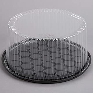 Cakesupplyshop 10-11inch Cake Double Layer Clear Cake Container Dome and Base Carry & Display Storage Box - 4pack