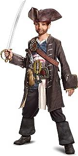 Disguise POTC5 Captain Jack Sparrow Prestige Costume, Multicolor, Small (4-6)