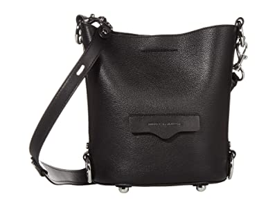 Rebecca Minkoff Small Utility Convertible Bucket (Black) Handbags