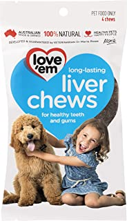 Love 'Em Liver Chews Dog Treat, 4 Pack