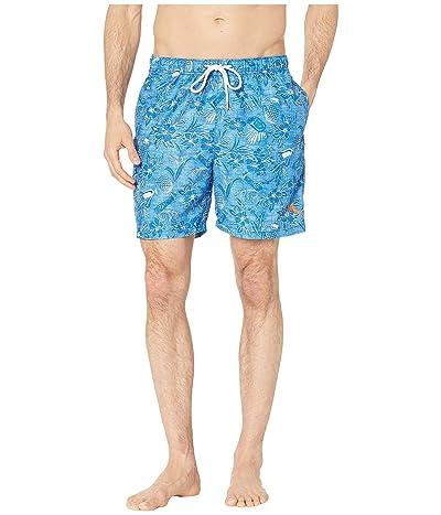 Tommy Bahama Naples Tiki Luau Swim Trunk (Madras Blue) Men