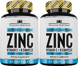 Sponsored Ad - Zinc 50mg Zinc Supplements for Immune Support - [2 Pack] Vitamin C and Zinc 50 mg Supplement - Zinc Supplem...