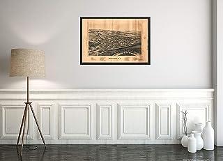 1893マップ|題名:モホーク、N.Y|題名:モホーク|モホークN.Y|ニューヨーク|アメリカ合衆国地図サイズ:40.64cm x