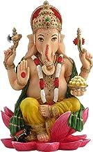 Ganesh (Ganesha) Hindu Elephant God of Success Statue, 7 1/4-inch Multi-Colored