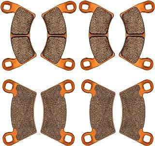 Zinger Brake Pads for 2012-2018 Polaris Ranger XP 900,2008-2013 Polaris Ranger 500 700 800, 2014-2017 Ranger Diesel,2010-2015 Ranger EV,4 Sets Front & Rear Replacement Brake Pads