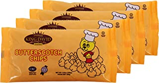 King David Vegan Butterscotch Chips Non-dairy Lactose Free Kosher 250-gram Bags (Pack of 4)