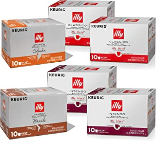 Illy Coffee, Variety Pack, K Cup for Keurig, 100% Arabica Bean Signature Italian Blend,..