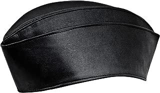 Genuine Leather Side Envelope Flight Service Garrison Cap