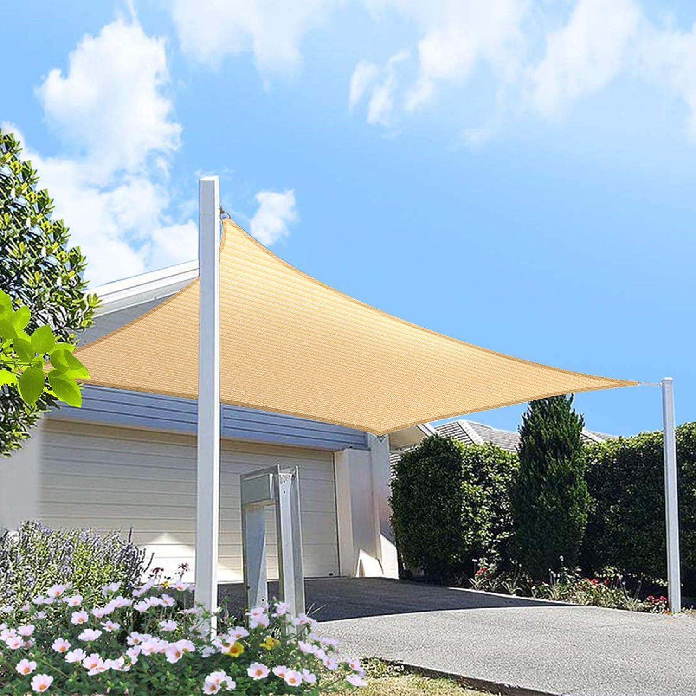 OFFicial shop HOMA 5' x free 10' Beige Rectangle Sun Shade 95% Bloc Sail UV Canopy