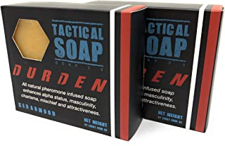 Tactical Soap - Durden (Cedarwood) - Mens All Natural Soap Infused with Powerful Pheromone Formula for Attraction (Pack of 2)