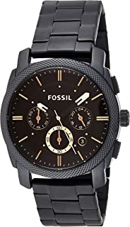 Fossil Mens Quartz Watch, Chronograph Display and Stainless Steel Strap FS4682