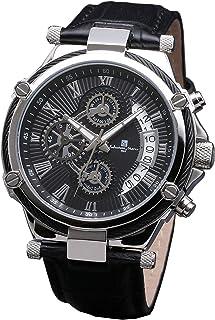 [サルバトーレマーラ] クロノグラフウォッチ メンズ 腕時計 クォーツ 革ベルト ブラック 時計クロス付き BKSV
