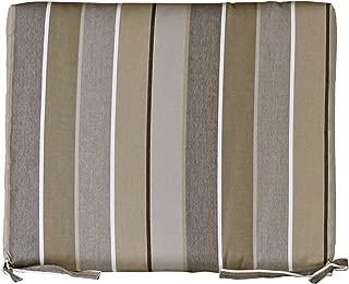 Outdoor Rocker Cushion - Sunbrella Milano Charcoal Fabric - Amish Made in The USA