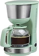 Bestron Koffiezetapparaat met warmhoudplaat, Royal Mint, voor gemalen filterkoffie, 10 kopjes, 1000 watt, mintgroen