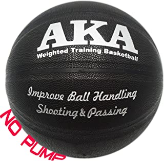 AKA Weighted Leather Basketball | 3lbs 29.5'' Size 7 Heavy Basketball | & | Ball Pump|