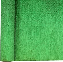 Just Artifacts Premium Metallic Crepe Paper Roll - 8ft Length/20in Width (Color: Kelly Green)