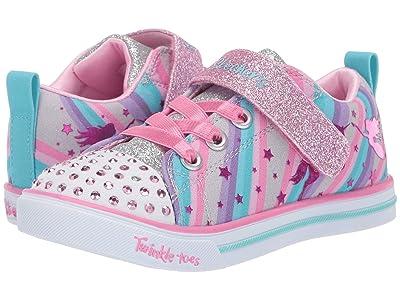 SKECHERS KIDS Twinkle Toes Sparkle Lite Magical Rainbows 20275N (Toddler) (Gray/Multi) Girl