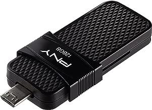 PNY Duo Link OTG 128GB Micro USB Drive, Up to 130MB/S – P-FD128OTGSLMB-GE