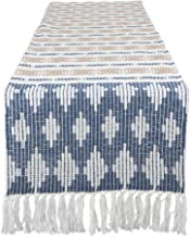 DII CAMZ11284 Southwest Table Runner, French Blue/Stone